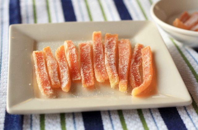 recipe for candying orange peel
